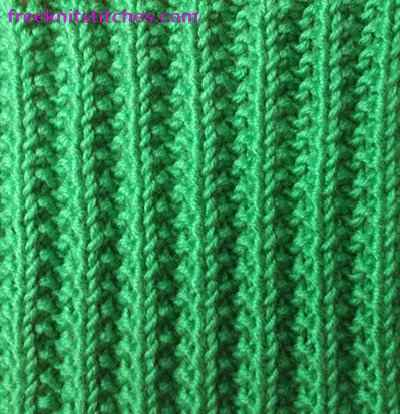 Rib Patterns Knitting : Knitting rib stitch Bulging rib
