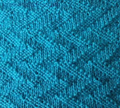 Knit Purl Patterns Forked Lightning