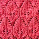 knit pattern generator Lace leaves