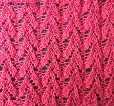 Easy lace knitting pattern Fibrous Plaster