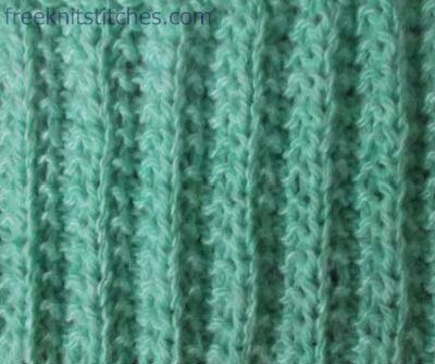 Rib faceted knitting stitches