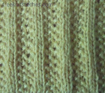 How To Knit The Lacey Eyelet Rib Stitch (Knitting)