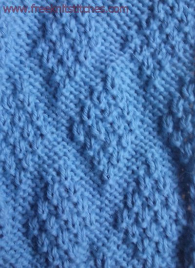 Facet knitting stitches