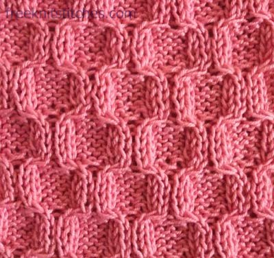 Honeycombs knitting stitches