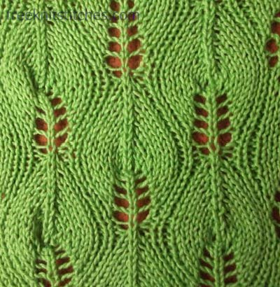 Knitted Leaf Pattern : Pattern central Birch