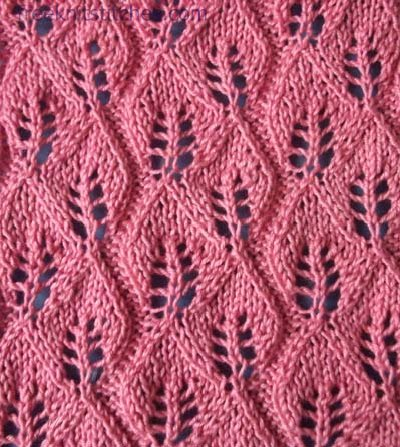 How To Knit A Leaf Pattern : Different stitch patterns Fall of the leaves