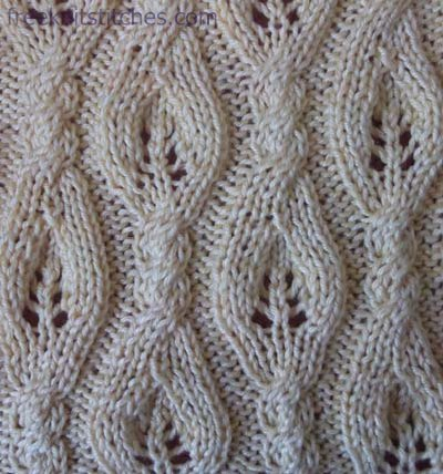 Sail knitting stitches