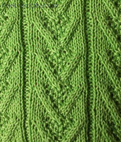 twisted stitch V-twisted knit stitch