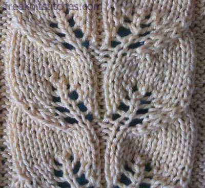 Knitted Leaf Pattern : Cool knitting patterns Drawn-work