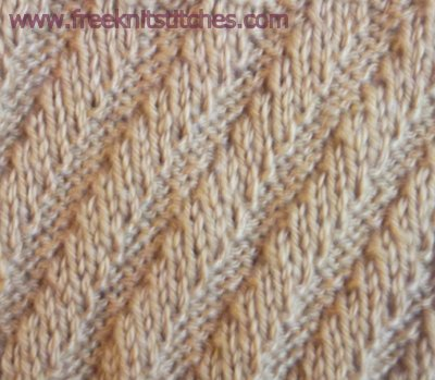 Diagonal knitting stitches