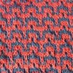 knitting with two colors Wave