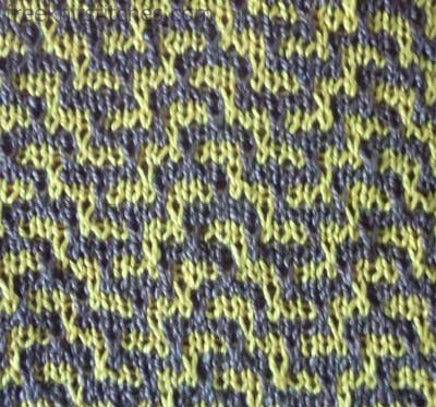 2 Color Knitting Patterns : Two color knitting pattern Labyrinth