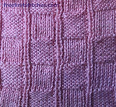 how to knit purl pattern Chess-board
