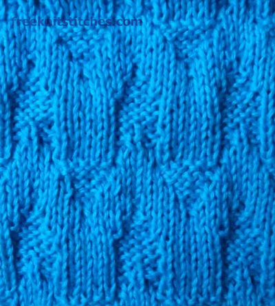 plain and purl knitting patterns Fence