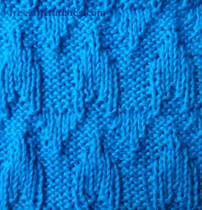 Battlements knitting stitches