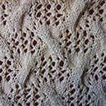 cable knit pattern Twist on the delicate grid