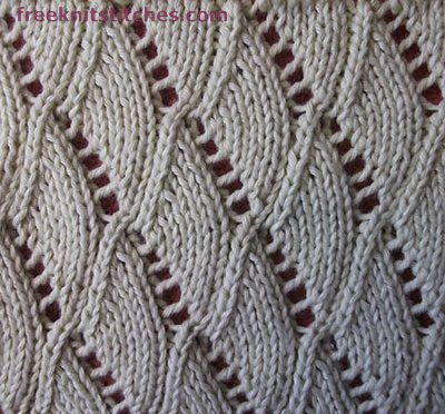Shells knitting stitches