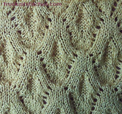 Knitting stitch library Wild strawberry