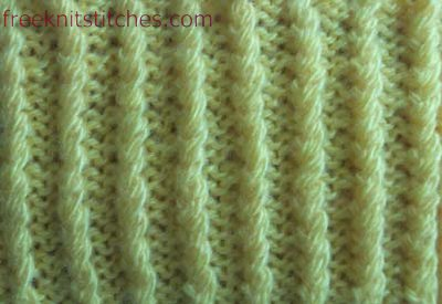 Cord Rib knitting stitches