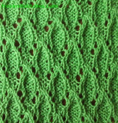 Droplets knitting stitches