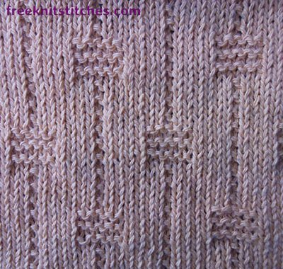 Textured Knitting Stitches Faceted Beads