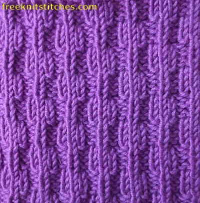 ribbing knitting Beads rib