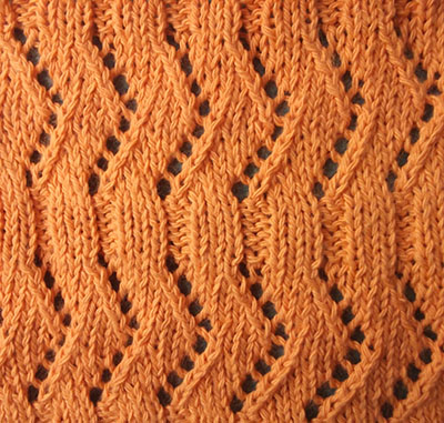 Ribbon knitting stitches