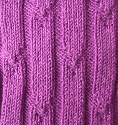 rib in knitting Tick rib