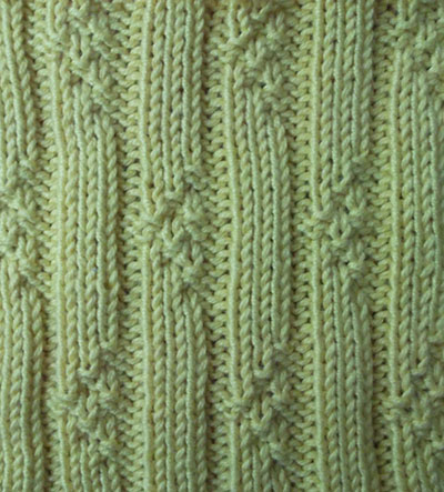 knit rib stitches Triangle rib