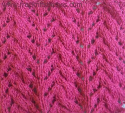 knitting twist stitch Plait