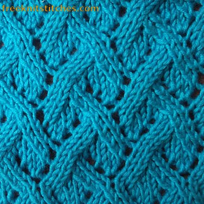 free knitting patterns for beginners Interlacement