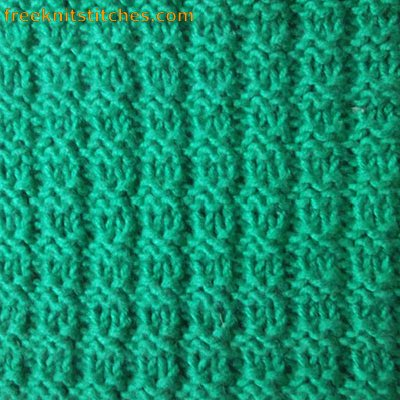 Boucle knitting stitches
