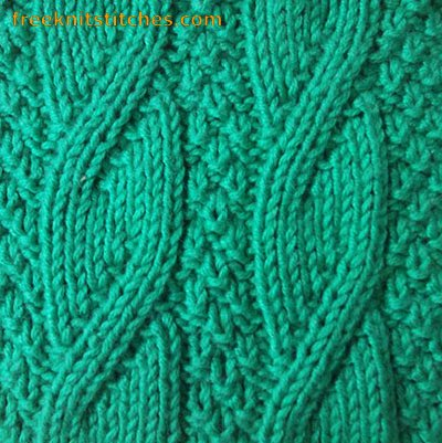 Twisted Rib knitting stitches
