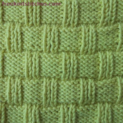 Wicker Basket Rib knitting stitches