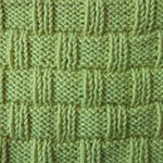 knitting stitches Wicker Basket Rib