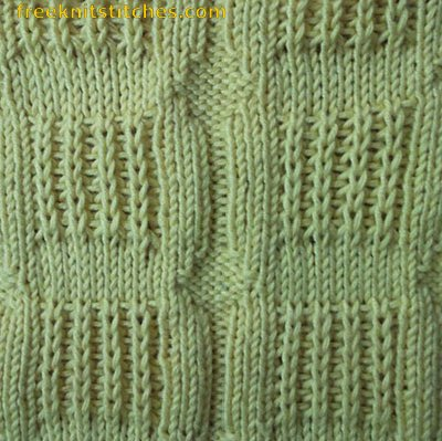 Window Rib knitting stitches