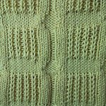 how to knit and purl Window Rib