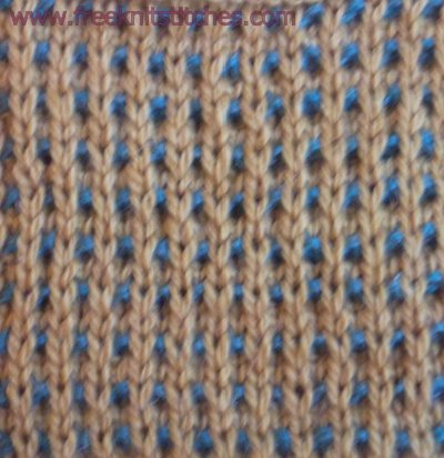 Two-coloured basket knitting stitches