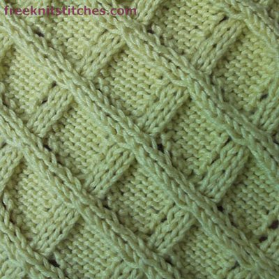 Lattice knitting stitches