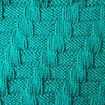 simple knitting pattern Interlacement