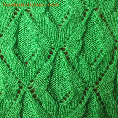 Knit leaves pattern Creeper