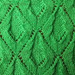 leaf lace knitting pattern Creeper