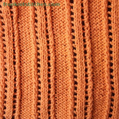 Lace Rib 6 knitting stitches