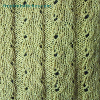 knitted eyelet lace pattern Bindweed