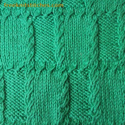 Cells with Braiding knitting stitches
