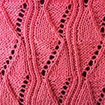 easy lace knitting pattern Battlements