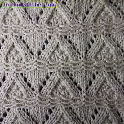 Creeping Line knitting stitches