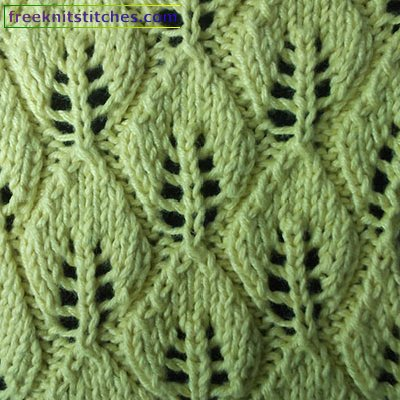 Leaf Fall knitting stitches