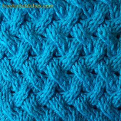 Shingles knitting stitches