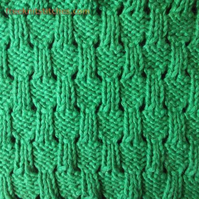 lace knitting stitches Straw Mat